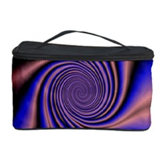 Purple Blue Swirl Cosmetic Storage Case by LalyLauraFLM
