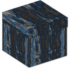 Blue Black Texture Storage Stool by LalyLauraFLM