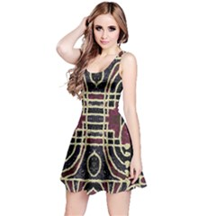 Tribal Style Ornate Grunge Pattern  Sleeveless Dress by dflcprintsclothing