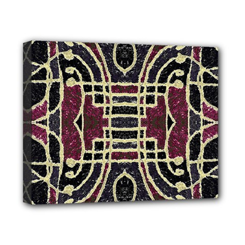 Tribal Style Ornate Grunge Pattern  Canvas 10  X 8  (framed) by dflcprints