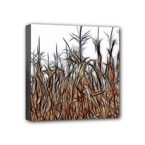 Abstract Of A Cornfield Mini Canvas 4  X 4  (framed) by bloomingvinedesign