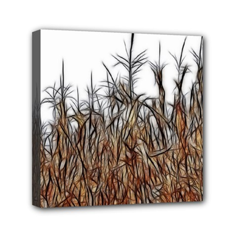 Abstract Of A Cornfield Mini Canvas 6  X 6  (framed) by bloomingvinedesign