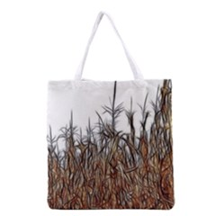 Abstract Of A Cornfield Grocery Tote Bag by bloomingvinedesign