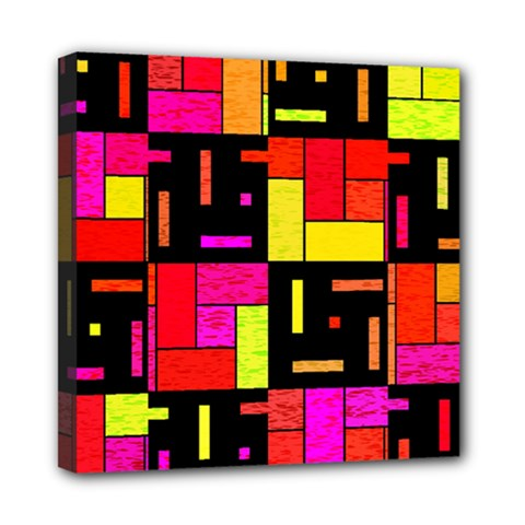 Squares And Rectangles Mini Canvas 8  X 8  (stretched) by LalyLauraFLM