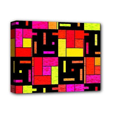 Squares And Rectangles Deluxe Canvas 14  X 11  (stretched) by LalyLauraFLM