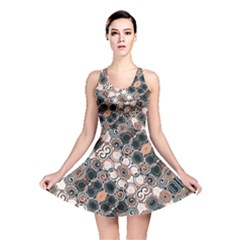 Modern Arabesque Pattern Print Reversible Skater Dress