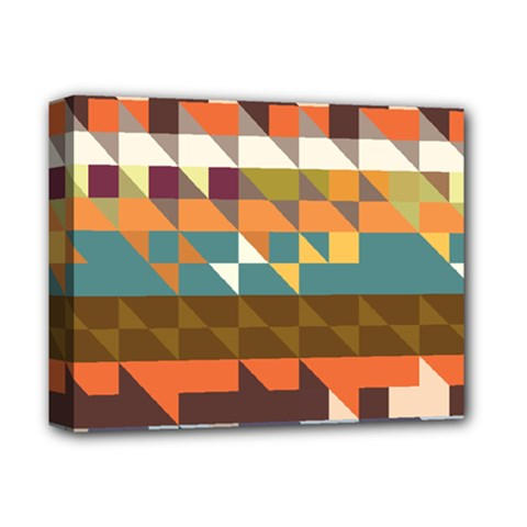 Shapes In Retro Colors Deluxe Canvas 14  X 11  (stretched) by LalyLauraFLM