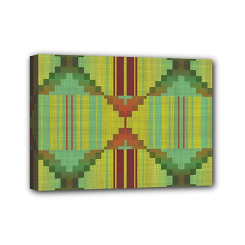 Tribal Shapes Mini Canvas 7  X 5  (stretched) by LalyLauraFLM