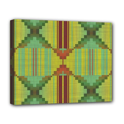 Tribal Shapes Deluxe Canvas 20  X 16  (stretched) by LalyLauraFLM