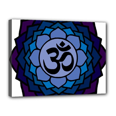 Ohm Lotus 01 Canvas 16  X 12  (framed) by oddzodd