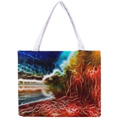 Abstract On The Wisconsin River Tiny Tote Bag