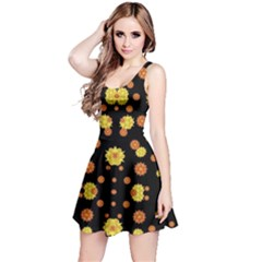Floral Print Modern Style Pattern Sleeveless Dress by dflcprintsclothing