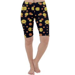 Floral Print Modern Style Pattern Cropped Leggings  by dflcprintsclothing
