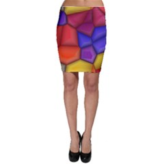 3d colorful shapes Bodycon Skirt by LalyLauraFLM