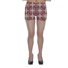 Floral Geometric Collage Skinny Shorts by dflcprintsclothing