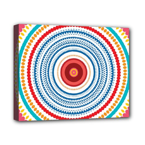 Colorful Round Kaleidoscope Canvas 10  X 8  (stretched) by LalyLauraFLM