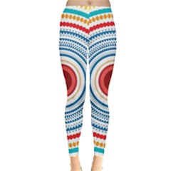 Colorful round kaleidoscope Leggings  by LalyLauraFLM