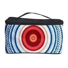 Colorful Round Kaleidoscope Cosmetic Storage Case by LalyLauraFLM