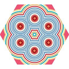 Colorful Round Kaleidoscope Mini Folding Umbrella by LalyLauraFLM