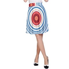 Colorful Round Kaleidoscope A Line Skirt