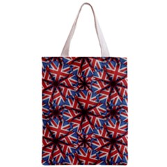 Heart Shaped England Flag Pattern Design Classic Tote Bag by dflcprints