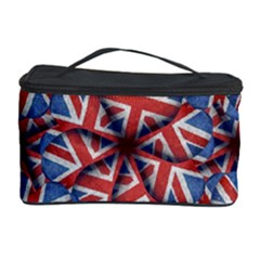 Heart Shaped England Flag Pattern Design Cosmetic Storage Case
