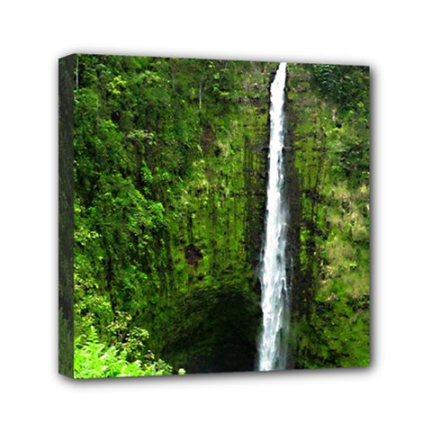 Akaka Falls Mini Canvas 6  X 6  (framed) by bloomingvinedesign