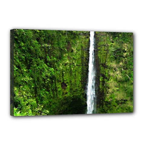 Akaka Falls Canvas 18  x 12  (Framed) by bloomingvinedesign