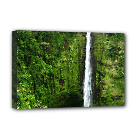 Akaka Falls Deluxe Canvas 18  X 12  (framed) by bloomingvinedesign