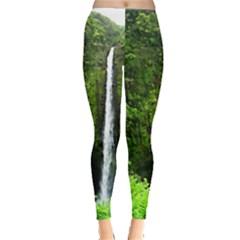 Akaka Falls Leggings  by bloomingvinedesign