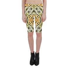 Art Print Tribal Style Pattern Cropped Leggings  by dflcprintsclothing