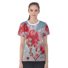 Flowers In The Sky Women s Cotton Tee by dflcprintsclothing