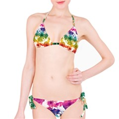 Multicolored Floral Swirls Decorative H Bikini by dflcprintsclothing