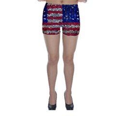 American Flag Mosaic Skinny Shorts by bloomingvinedesign