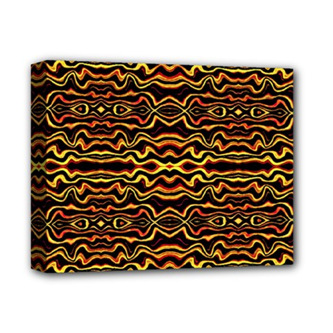 Tribal Art Abstract Pattern Deluxe Canvas 14  X 11  (framed) by dflcprints