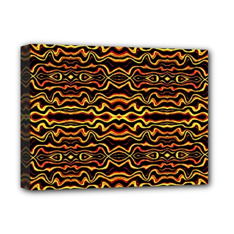 Tribal Art Abstract Pattern Deluxe Canvas 16  X 12  (framed)  by dflcprints