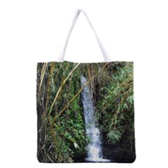 Bamboo Waterfall Grocery Tote Bag by bloomingvinedesign