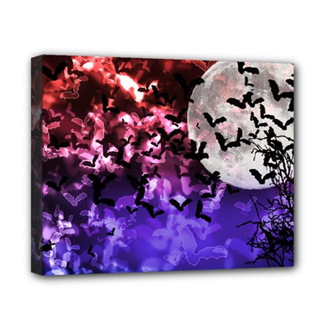 Bokeh Bats In Moonlight Canvas 10  X 8  (framed) by bloomingvinedesign