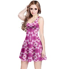 Floral Print Pink Passionate Dreams  Sleeveless Dress by dflcprintsclothing