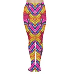 Multicolored Abstract Print Tights by dflcprintsclothing