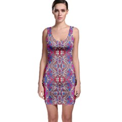 Colorful Ornate Decorative Pattern Bodycon Dress