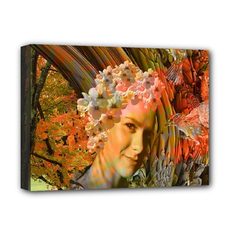 Autumn Deluxe Canvas 16  X 12  (framed)  by icarusismartdesigns