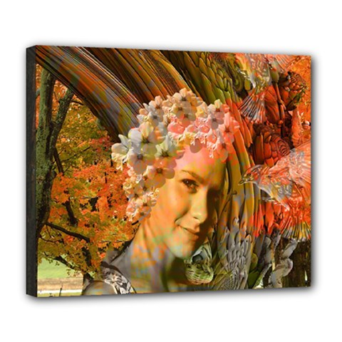 Autumn Deluxe Canvas 24  X 20  (framed) by icarusismartdesigns
