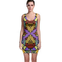Multicolored Tribal Print Bodycon Dress by dflcprintsclothing