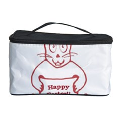 Cute Bunny Happy Easter Drawing I Cosmetic Storage Case by dflcprints
