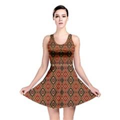 Tribal Print Vivid Pattern Reversible Skater Dress by dflcprintsclothing