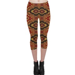 Tribal Print Vivid Pattern Capri Leggings  by dflcprintsclothing