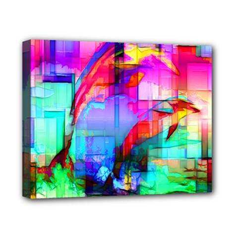 Tim Henderson Dolphins Canvas 10  X 8  (framed) by TheWowFactor