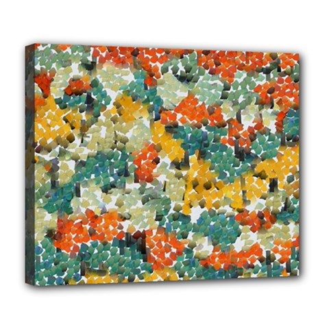 Paint Strokes In Retro Colors Deluxe Canvas 24  X 20  (stretched) by LalyLauraFLM