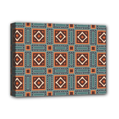 Squares Rectangles And Other Shapes Pattern Deluxe Canvas 16  X 12  (stretched)  by LalyLauraFLM